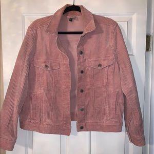 H&M light pink corduroy jacket